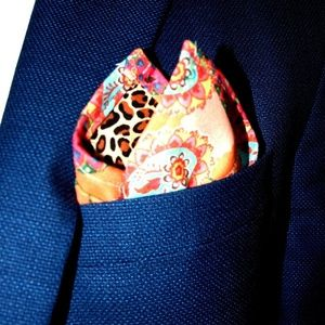 Other - Handmade Double Sided Pocket Square